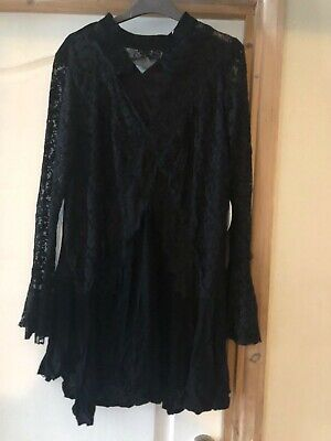 Kiss the sky lace smock dress with choker detail  - Size S