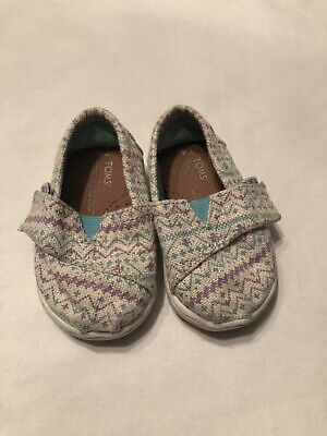 Baby Girl Toms Shoes (Baby Girl Toms Aztec Size Toddler 4)