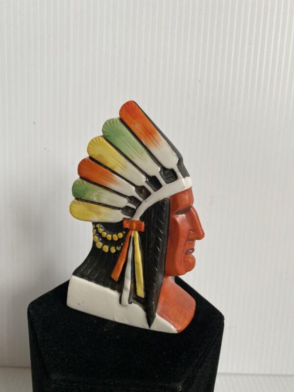 Vintage Rare Indian Native American Figural Incense Burner Art Deco Numbered