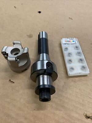 R8 Shell Mill 2 With 10 Inserts Fits Bridgeport Milling Machine