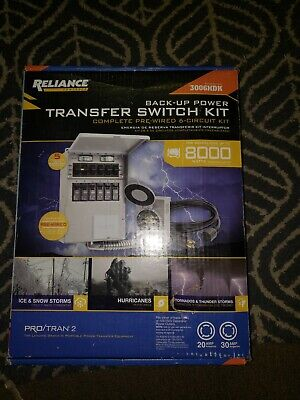 Reliance Controls 3006hdk 6-circuit Generator Power Transfer Switch Kit - New