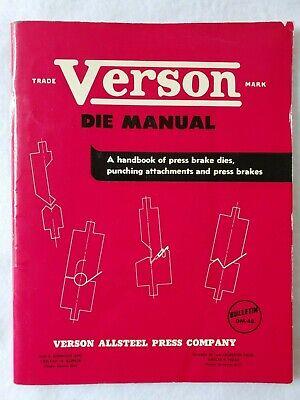 Verson Allsteel Press Die Manual Dm-48