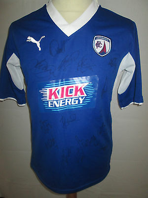 Chesterfield 2012-2013 Squad Signed Home Football Shirt COA BNWT /34382 image