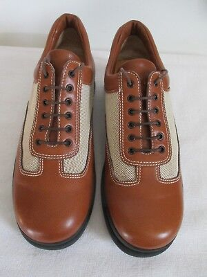 Tanino Crisci Mens Oxford Casual Shoes Brown Leather Size 6