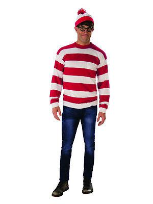 Where's Waldo - Deluxe Adult Sweater - Where's Waldo Kostüm