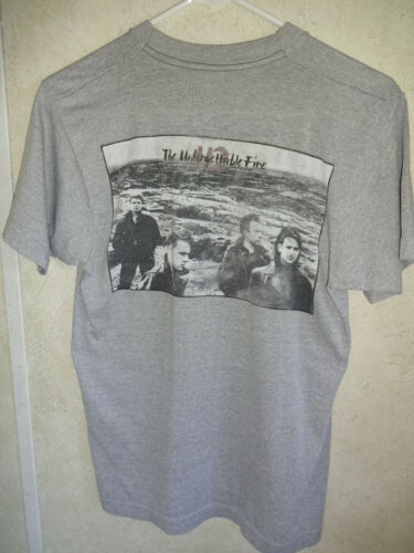 Vintage Faded 1980s U2 The Unforgettable Fire Grey T Shirt Tee Mens S Womens S M