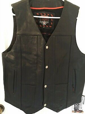 XX-Large Interstate Leather Mens Basic Vest