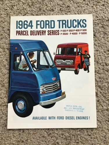 1964 Ford Parcel delivery series,  original sales literature.