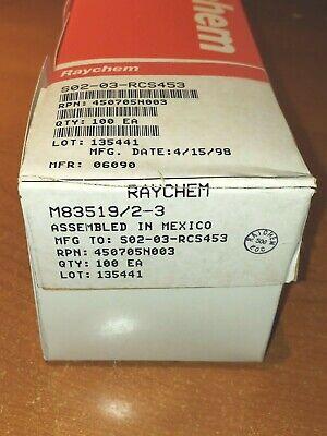 100 New Raychem M835192-3 Mil-spec Solder Sleeve Terminators Splice Avionics