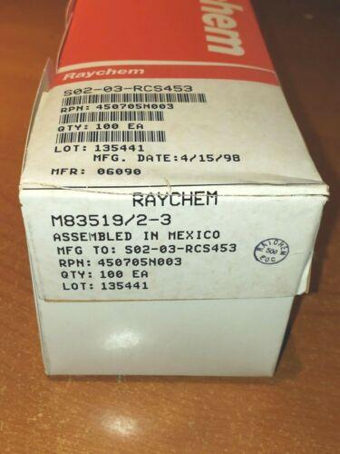 100 NEW Raychem M83519/2-3 Mil-Spec Solder Sleeve Terminators Splice Avionics