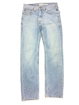 LEVI STRAUSS SIGNATURE Mens Regular Five Pocket Zip Fly Jeans Light Wash 30 x 32