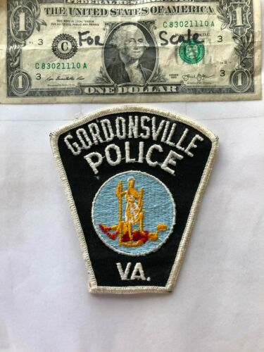 Very Rare Gordonsville Virginia Police patch un-sewn great condition