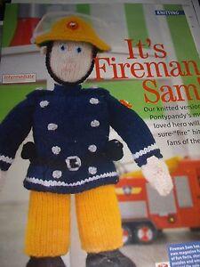 VINTAGE KNITTING PATTERN  Fireman Sam toy