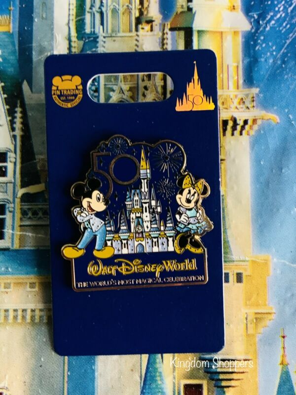 2021 Disney World 50th Anniversary Mickey & Minnie Castle Pin New In Hand