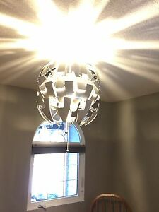 IKEA pendant light with LED bulb