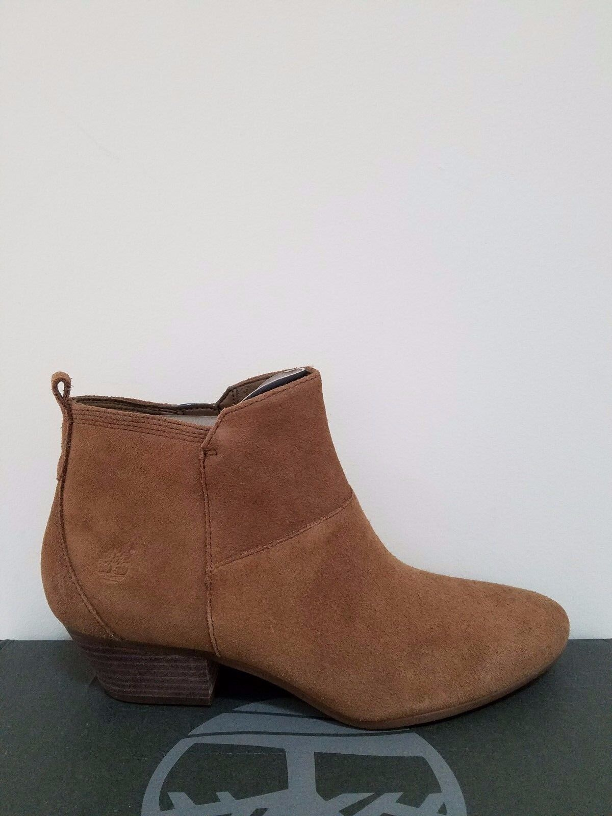 Timberland Women's Carleton side-Zip Suede Ankle Boots NIB