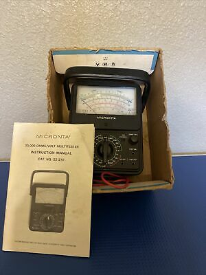 Micronta Multitester 21-range Multimeter 22-210 Waudible Continuity Tester