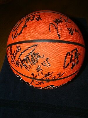 2003-2004 LSU TIGERS AUTOGRAPHED BASKETBALL  BY 9 MEMBERS MITCHELL MINOR HUDSON+