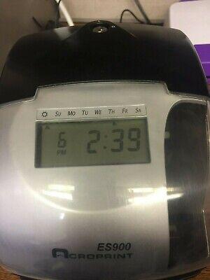 Es900 Acroprint Digital Time Clock