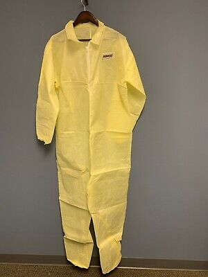 2-pk Ironwear 1605 Yellow Water Resistant Disposable Polypropylene Coverall 4xl