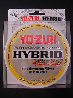 Yo-Zuri Hybrid Fluorocarbon 2 lb. 275 yd Ultra Soft Mist Green  Fishing Line