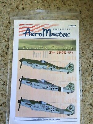 1/48 AeroMaster 48-638 FW 190D-9 Too Little Too Late Part III NOS 1949