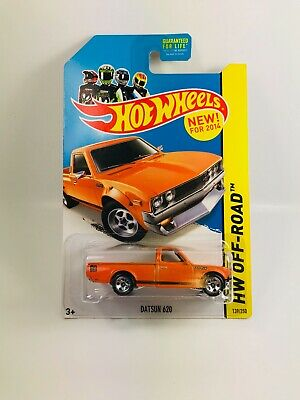 Hot Wheels Datsun 620 Pickup Orange 1:64 Diecast