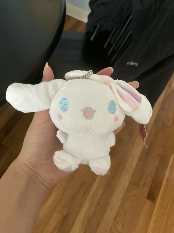Sanrio Small Pink Cinnamoroll Plush Keychain  Bow Cute Toy Doll Gift Japan New
