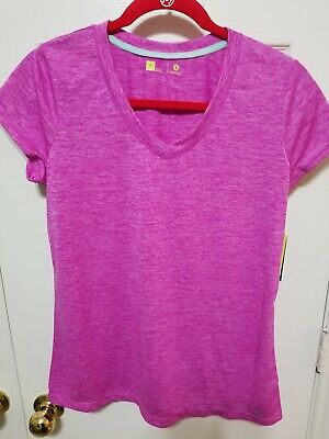 Xersion Women's Norm Stretch Activewear Top Pink. 100% POLYESTER. NWT.