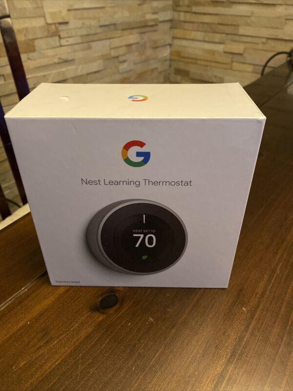 Google Nest Learning Thermostat 3rd Gen in Stainless Steel