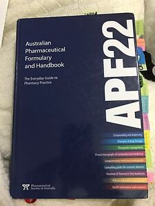 APF22 - Australian pharmaceutical formulary and handbook Revesby Heights Bankstown Area Preview