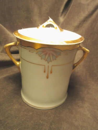 W A Pickard China Lidded Jar Deco with Lid Hand Painted CA