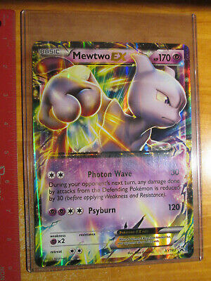 NM JUMBO Pokemon MEWTWO EX Card BLACK STAR PROMO Set XY183 OVERSIZED Big Large
