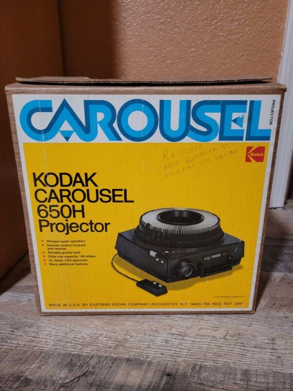 Kodak Carousel Custom 650H Projector Original Box