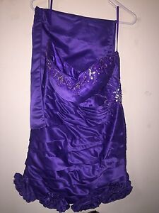 Short purple prom dress $10