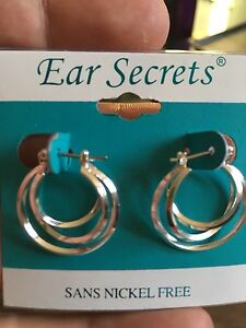 Ear secret nickel free hoops