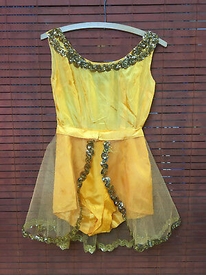 Vtg costume 1960 pinup burlesque XS aerialist trapeze showgirl cosplay halloween (Vintage 1960 Halloween Costumes)