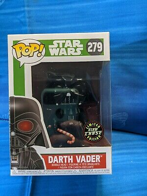 Star Wars Darth Vader Glow Chase POP Vinyl Figure #279 Holiday/Christmas Funko