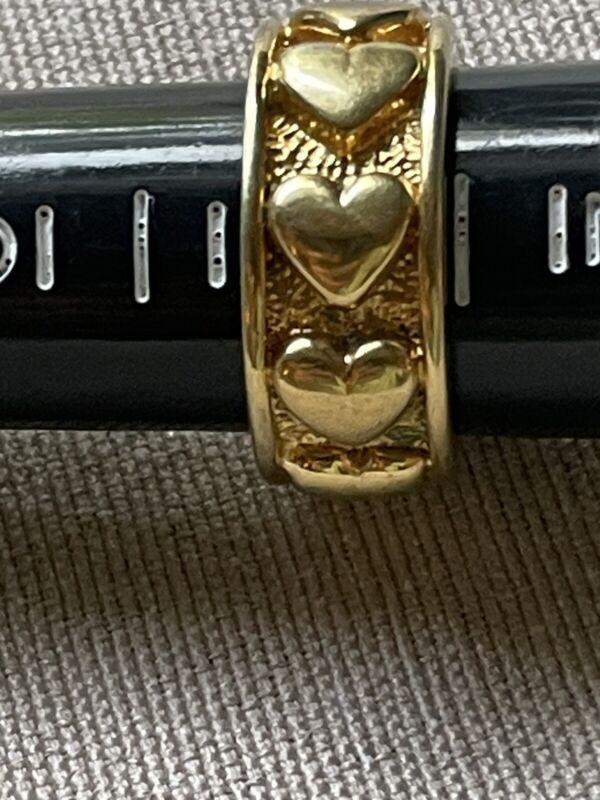VINTAGE MONET GOLD HEARTS RING