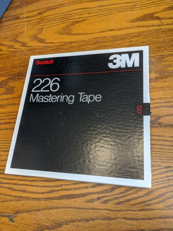 "NOS Scotch 3M Studio Mastering Tape 226 10.5"" Metal Reel 1/4"" vtg Box Nice 2500"