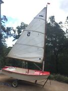"""Sabot Sailing Dinghy """"Where's Wally"""" Hornsby Heights Hornsby Area Preview"""
