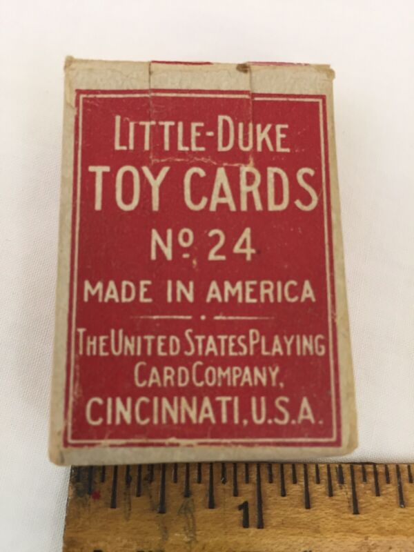 VTG LITTLE DUKE Toy Playing Cards Complete Set Made USA