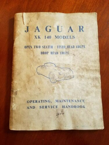 Vintage Original Jaguar XK140 Models Operating, Maintenance, Service Handbook