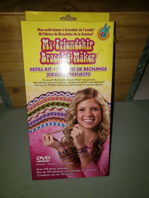 My Friendship Bracelet Maker Refill Kit Including Instructional DVD 156 pcs New