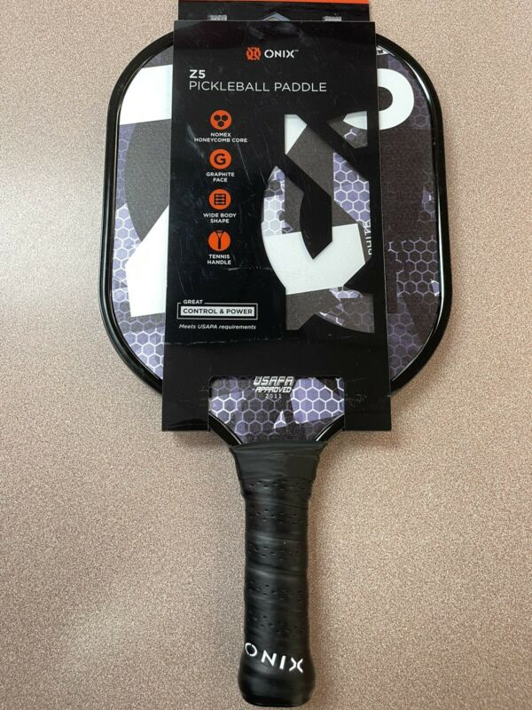 ONIX Graphite Z5 Carbon Fiber Pickleball Paddle with Cushion Comfort Grip *NEW*
