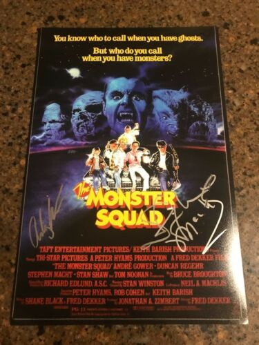 * STEPHEN MACHT & ASHLEY BANK * signed 12x18 photo poster * THE MONSTER SQUAD *