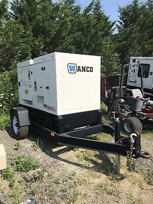2018 Only 15hrs Wanco Wsp 25kw Quiet Trailer Mounted Generator Nice