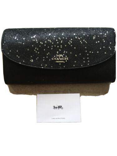 Coach Star Glitter Slim Envelope Clutch Wallet F38692