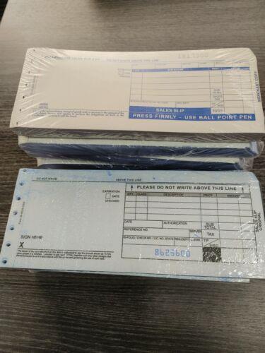 Credit Card Sale Slips - 2 Part Carbonless - 100 Count