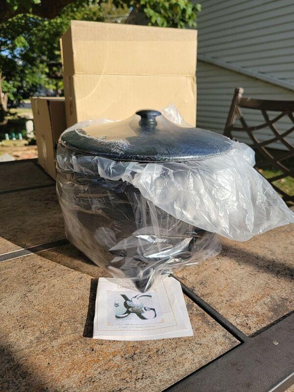 Longaberger Happy Halloween Large Cauldron Basket Set W/ Wrought Iron Stand NEW